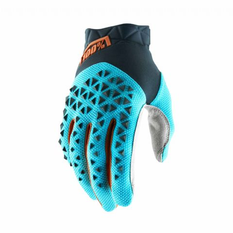 AIRMATIC 100% Glove Steel Grey/Ice Blue/Bronze